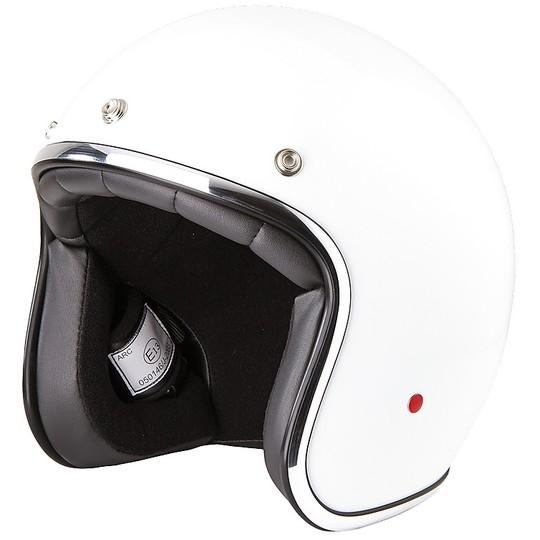 Casque moto Jet Custom Stormer PEARL Uni White