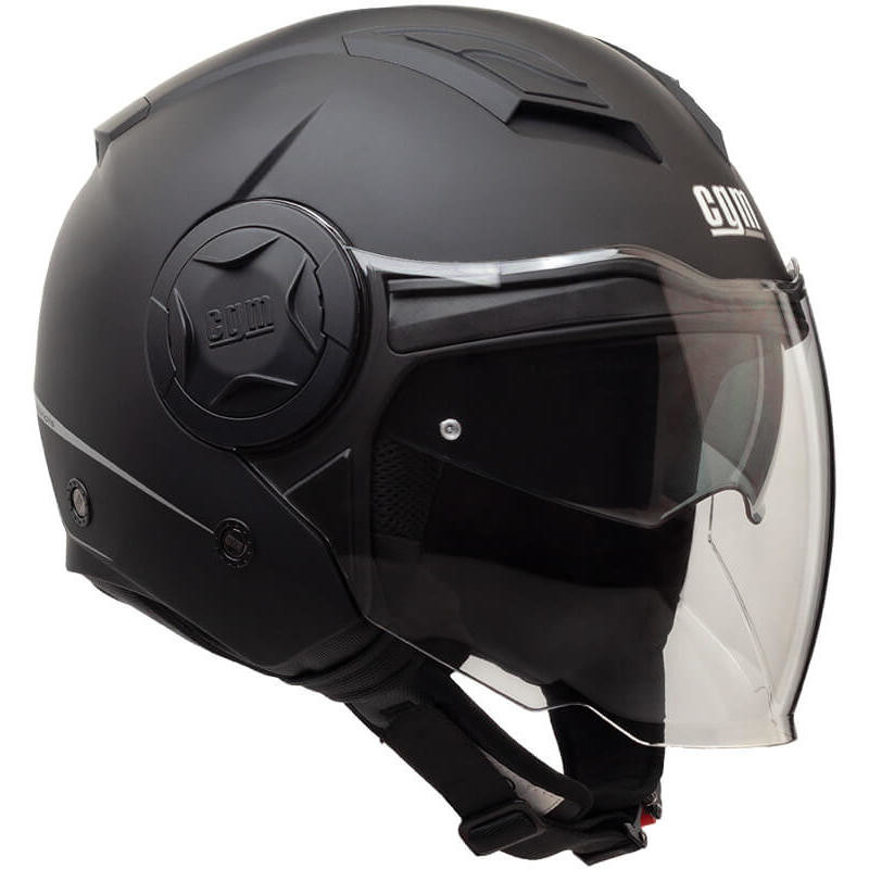 Casque Moto Jet Double Visor CGM 129A ILLINOIS Matt Black