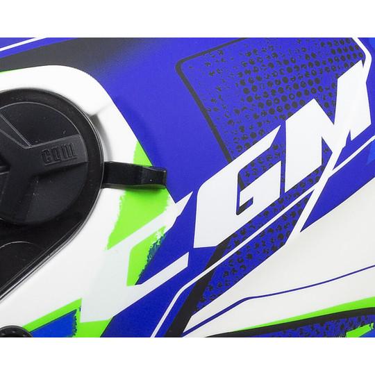 Casque Moto Jet Double Visor CGM 130s MAYER Bleu Mat