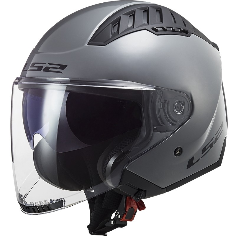 Casque Moto Jet Double Visor Ls2 OF600 Copter Solid Nardo Grey