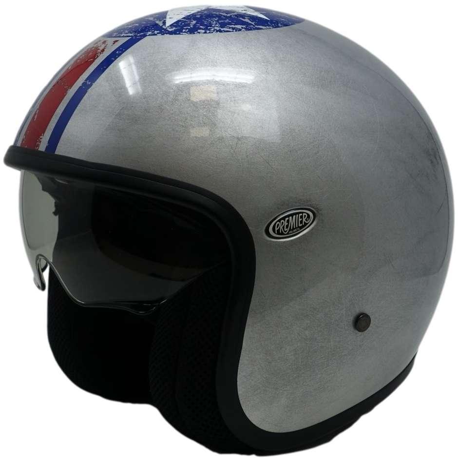 Casque moto jet en fibre Premier Custom VINTAGE PIN UP OSS