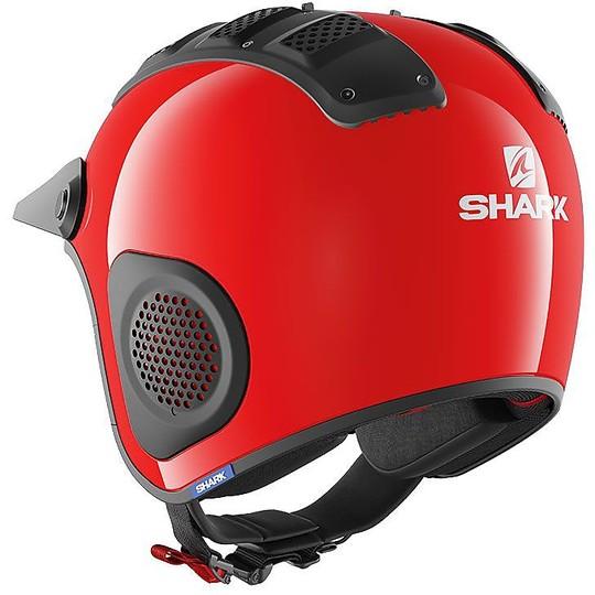 Casque Moto Jet en Shark Fibre ATV-DRAK Rouge