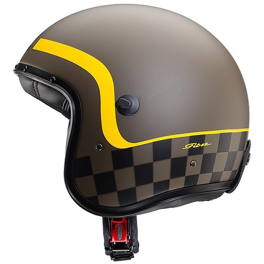 Casque Moto Jet Fibre Caberg FREERIDE Formula Matt Brown Yellow