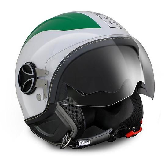 Casque Moto Jet Fibre Momo Design Avio Pro Special Edition Italie 150 ° Vert Blanc Rouge