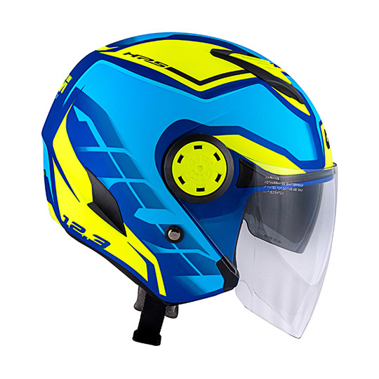 Casque Moto Jet Givi 12.3 STRATOS Shade Blue Metallic Matt Yellow