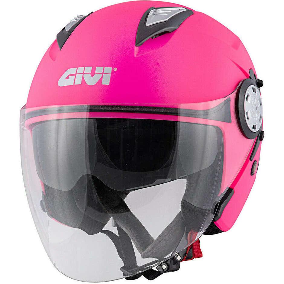 Casque Moto Jet Givi 12.3 STRATOS Solid Matt Pink