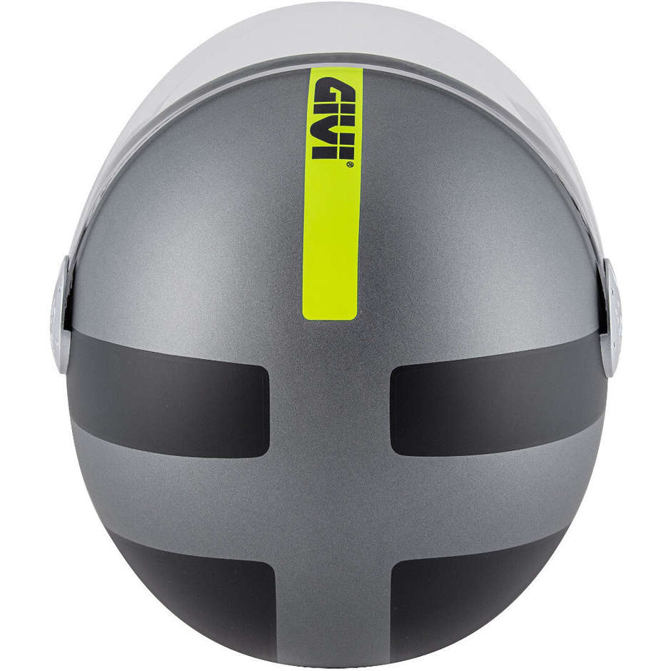 Casque Moto Jet Givi Model 10.7 Mini-J Concept Anthracite Yellow