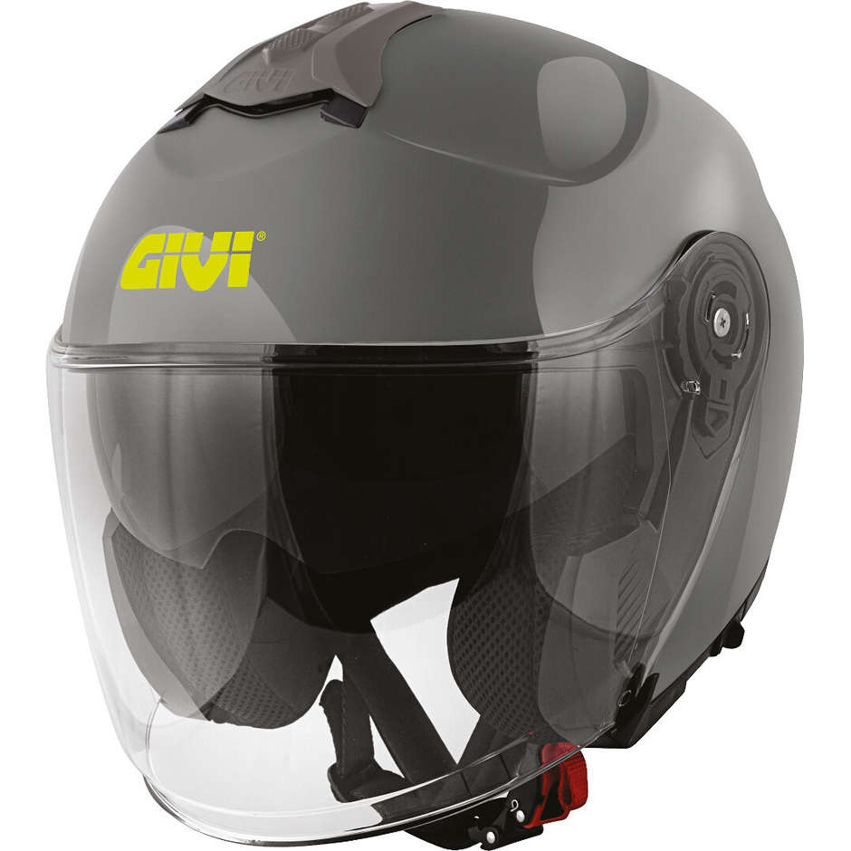 Casque Moto Jet Givi X.22 Planet Single Color Double Visor Grey Nardo