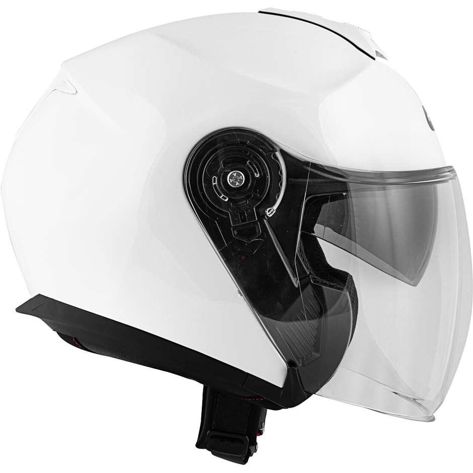 Casque Moto Jet Givi X.22 Planet Single Color Double White Visor