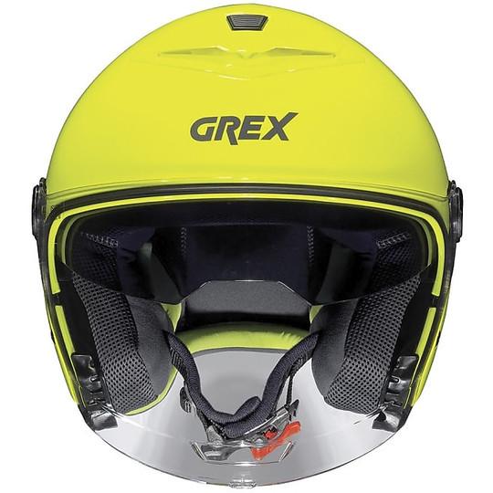 Casque moto Jet Grex G4.1 Kinetic 017 Led Jaune