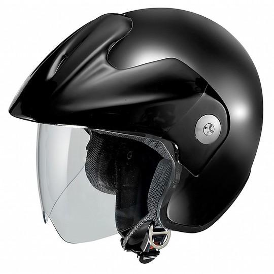 Casque moto Jet Ixs HX 114 Glossy Black