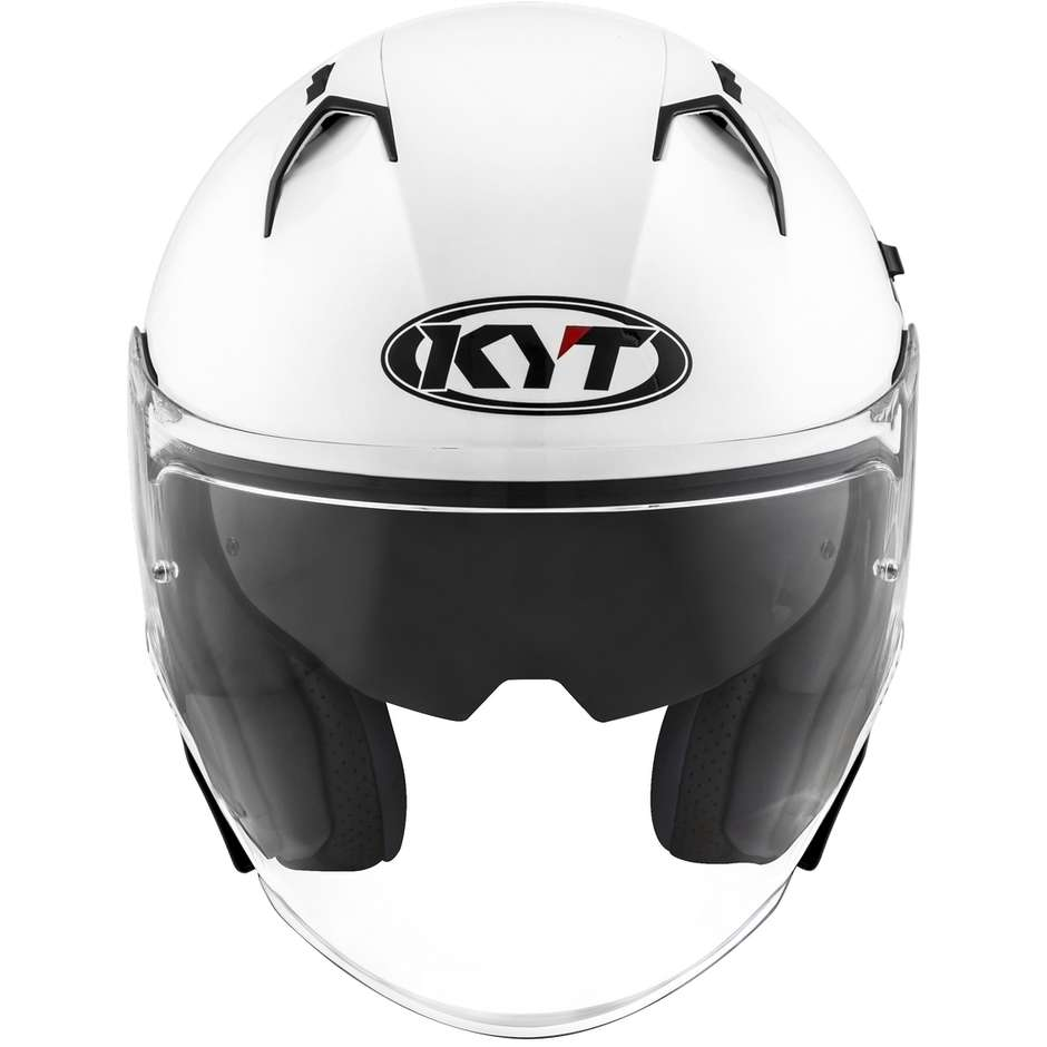 Casque Moto Jet KYT NF-J PLAIN Blanc