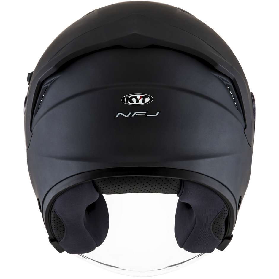 Casque Moto Jet KYT NF-J PLAIN Matt Anthracite