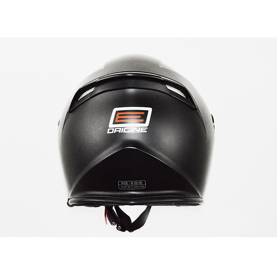 Casque Moto Jet Long Palio Origin Double Visor Matt Black