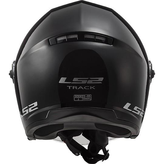 Casque moto Jet LS2 OF569Track Double Visor Glossy Black