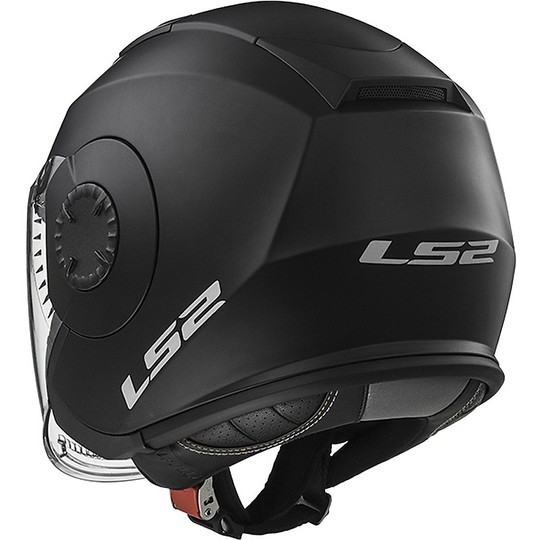 Casque Moto Jet LS2 OF570 Verso Solid Double Visor Matt Black