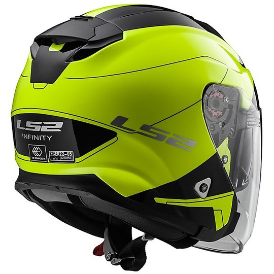 Casque Moto Jet LS2 OFF 521 Double Visor Infinity Beyond Black Yellow Hy Vision