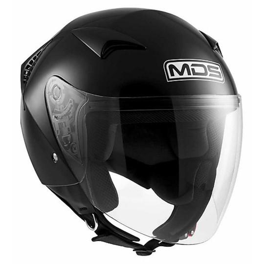 Casque moto Jet Mds G240 Mono Glossy Black