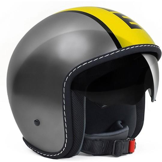 Casque moto Jet Momo Design Blade Anthracite Glossy Yellow Black