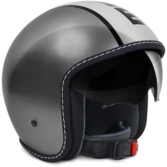 Casque moto Jet Momo Design Blade Glossy Anthracite Black