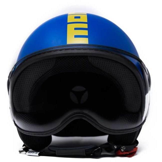 Casque Moto Jet Momo Design FGTR Fighter HERITAGE Alpine Matt Blue
