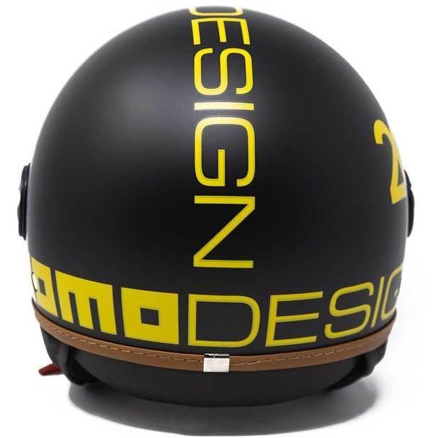 Casque Moto Jet Momo Design FGTR Fighter HERITAGE Matt Black Decal Jaune