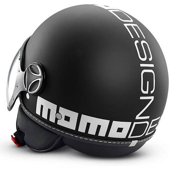 Casque moto Jet Momo Design Fighter EVO Matt Black White
