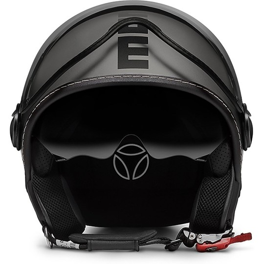 Casque moto Jet Momo Design Fighter EVO Titanium Frost Matt noir