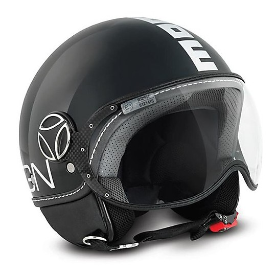 Casque moto Jet Momo Design Figther Classic Anthracite Glossy White