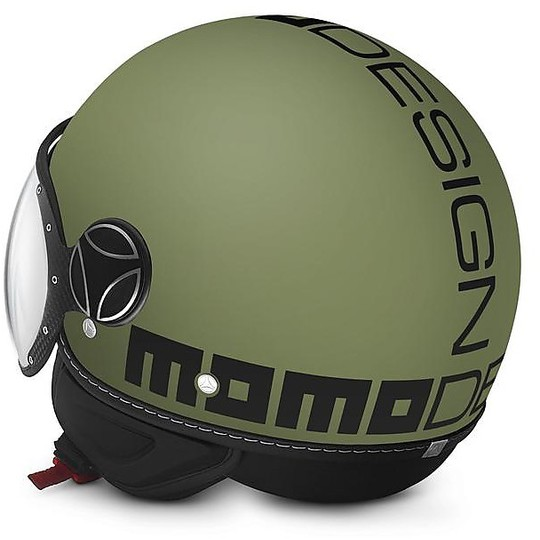 Casque moto Jet Momo Design Figther Classic Military Green