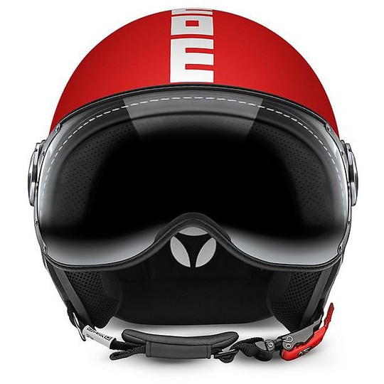 Casque moto Jet Momo Design Figther Classic Red Frost