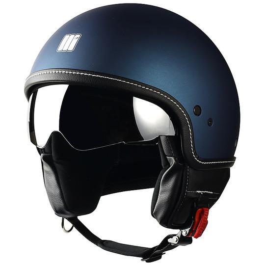 Casque moto Jet Motocubo Beetle Matt Blue With Visor