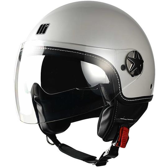 Casque moto Jet Motocubo Fly Glossy White Double Visor