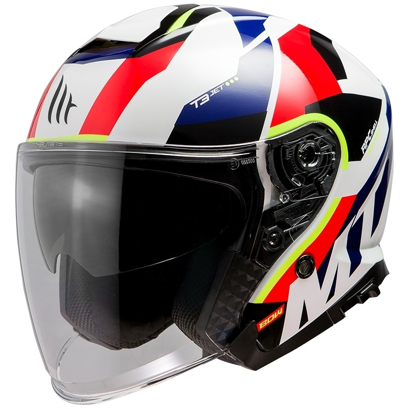 Casque moto Jet Mt Casque THUNDER Sv Jet BOW E5 Glossy Pearl Red