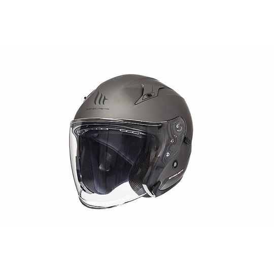 Casque moto Jet MT Casques Avenue SV Solid Titanium Matt