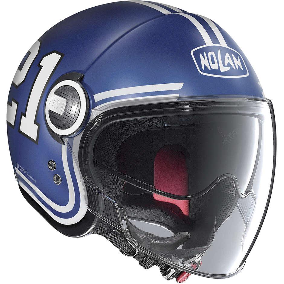 Casque Moto Jet Nolan N21 Visor QUATERBACK 085 Imperator Matt Blue