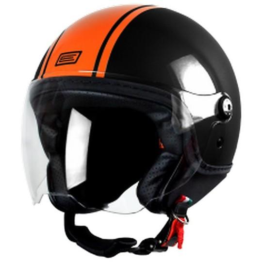 Casque moto Jet Origin Mio Dandy Noir Orange