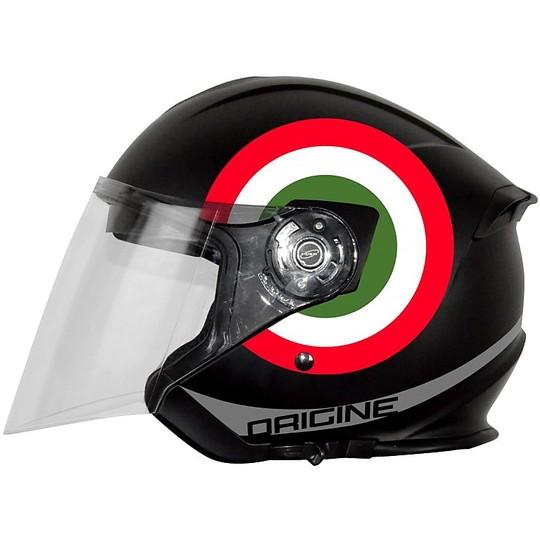 Casque Moto Jet Origin Palio Flow 2.0 Double Visor Noir Matt Italie