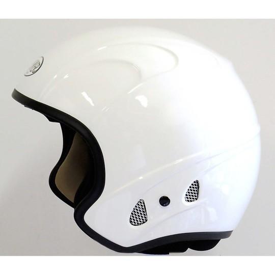 Casque moto Jet Premier Free Evo Eko en fibre blanc brillant