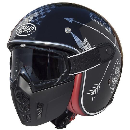 Casque moto Jet Premier Vintage Fibre Mask NX Silver Chromed
