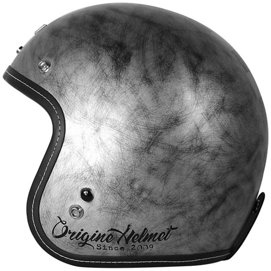 Casque moto Jet Primo Primo Vintage Custom Matt Silver Check
