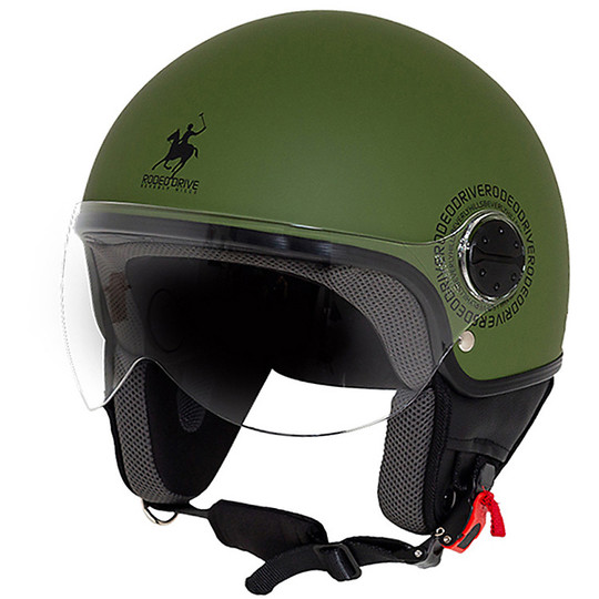 Casque moto Jet Rodeo Drive RD104 Flash Military green