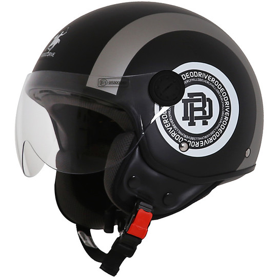 Casque moto Jet Rodeo Drive RD105 Bands Matt Black grey