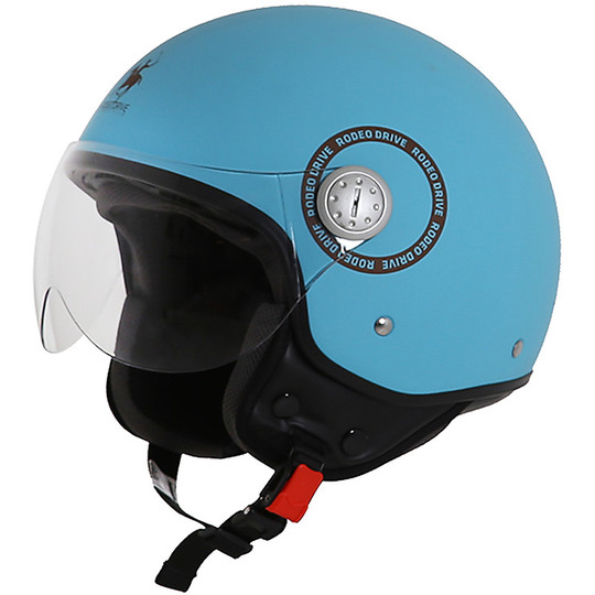 Casque moto Jet Rodeo Drive RD105 Plus Green Water
