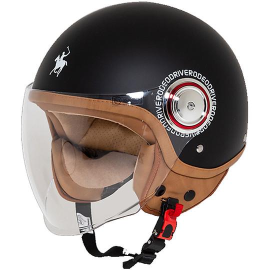 Casque moto Jet Rodeo Drive RD108 avec visière noir mat