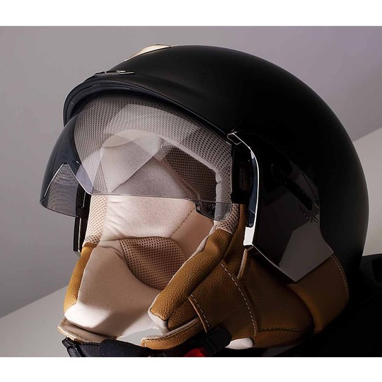 Casque moto Jet Scorpion Exo-100 Padova II Matt Black Beige