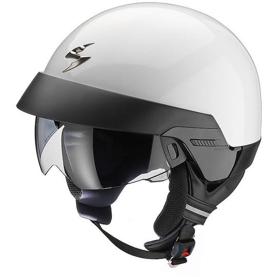 Casque moto Jet Scorpion Exo-100 Solid White