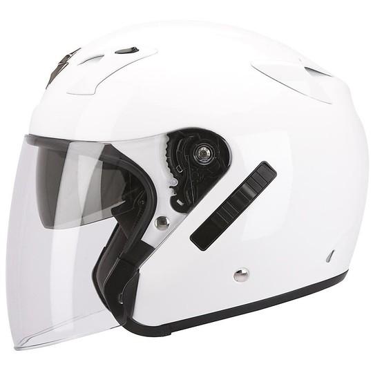 Casque moto Jet Scorpion Exo-220 Solid White