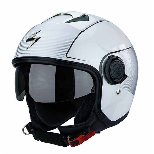 Casque moto Jet Scorpion Exo-City Avenue Sky Blue Black