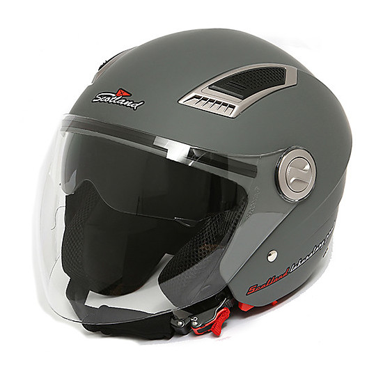 Casque Moto Jet Scotland Long Visor Anthracite Matt